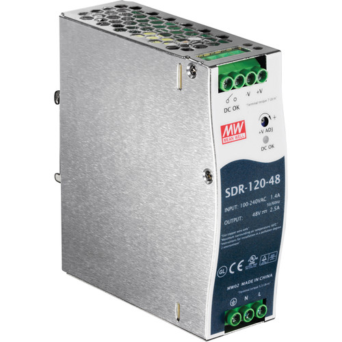 TRENDnet 120-Watt Single-Output Industrial DIN-Rail Power Supply