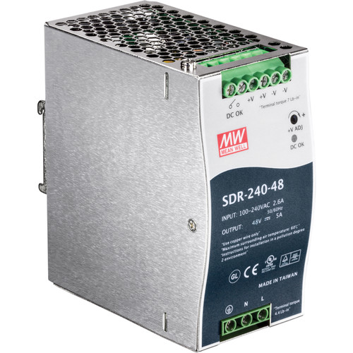 TRENDnet 240W Single Output Industrial DIN-Rail Power Supply
