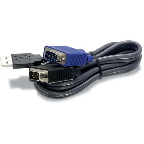 TRENDnet USB / VGA KVM Cable (Black, 15')