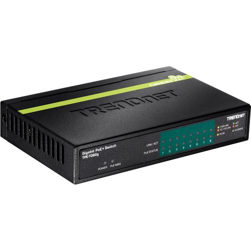 TRENDnet TPE-TG82G 8-Port Gigabit PoE+ Unmanaged Switch