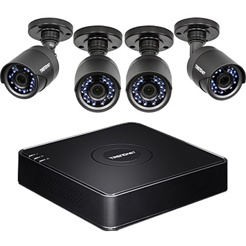 TRENDnet 4-Channel 1TB DVR and 4 Outdoor Cameras with Night Vision