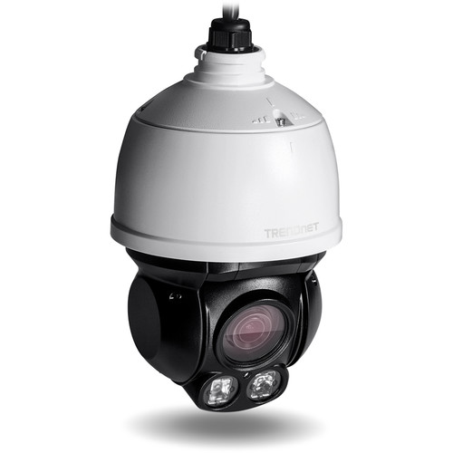 TRENDnet Outdoor 2MP 1080p PoE+ IR Mini Speed Dome Network Camera with 2.8 to 12mm Varifocal Lens