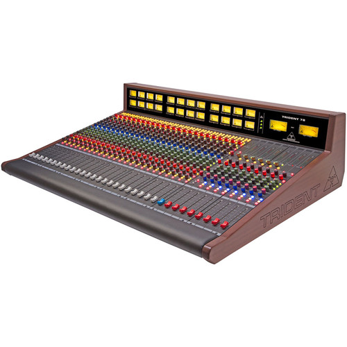 Trident Audio Series 78 Professional Analog Mixing Console with LED Meter Bridge (24-Channel)
