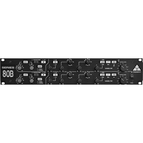 Trident Audio Series 80B Dual Microphone Preamplifer and Equalizer