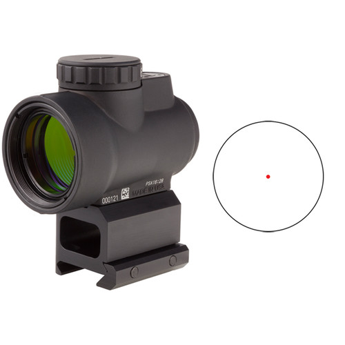 Trijicon 1x25 MRO Reflex Sight with Lower 1/3 Co-Witness Mount (Red Dot Reticle)