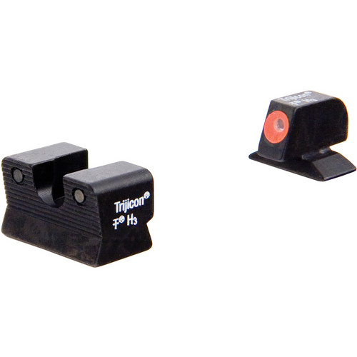 Trijicon BE112O Beretta 90-TWO HD Night Sight Set with Orange Front Outline