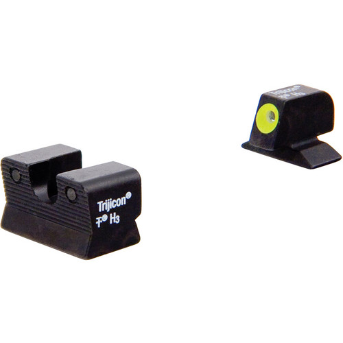 Trijicon BE112Y Beretta 90-TWO HD Night Sight Set with Yellow Front Outline