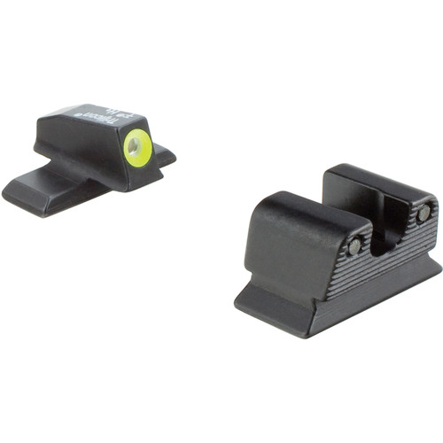 Trijicon HD Night Sight Set for Beretta PX4 Storm Pistol (Yellow Front Disk, Matte Black)