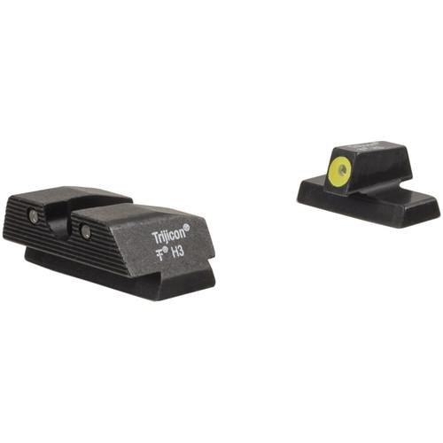 Trijicon HD Night Sight Set for Beretta APX Pistol (Yellow Front Disk, Matte Black)