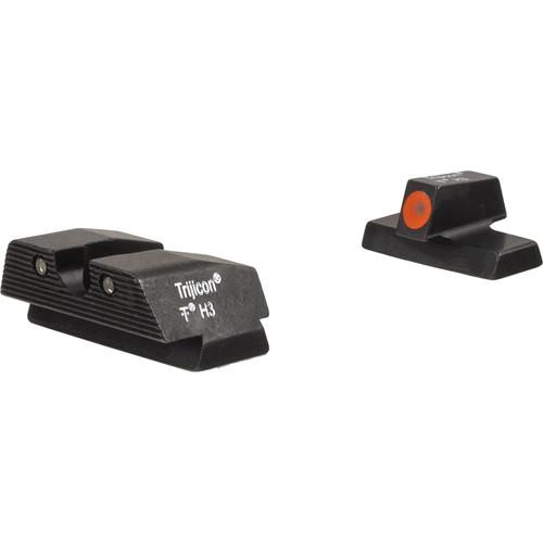 Trijicon HD Night Sight Set for Beretta APX Pistol (Orange Front Disk, Matte Black)