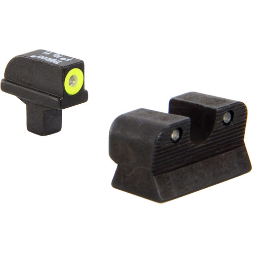 Trijicon HD Night Sight Set for Colt Officer's Pistol (Yellow Front Disk, Matte Black)