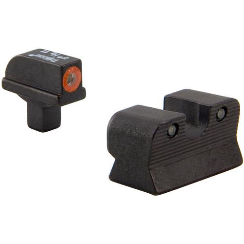 Trijicon HD Night Sight Set for Colt Officer's Pistol (Orange Front Disk, Matte Black)