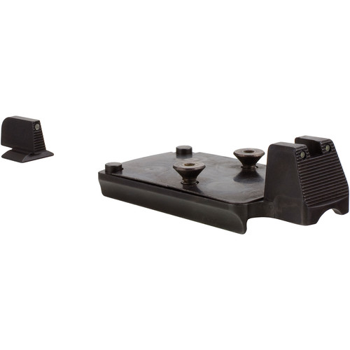 Trijicon 1911 RMR Mount with Integrated Night Sight Set (Black/Green)