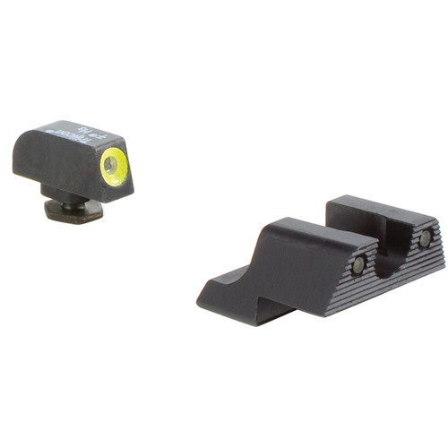 Trijicon HD Night Sight Set for Glock 42/43 Pistol (Yellow Front Disk, Matte Black)