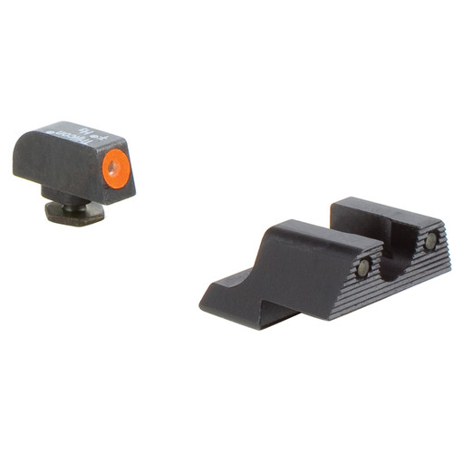 Trijicon HD Night Sight Set for Glock 42/43 Pistol (Orange Front Disk, Matte Black)