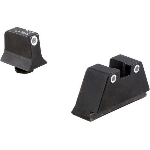 Trijicon Glock Suppressor Night Sight Set with Green Lamp (White)