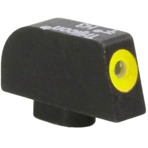 Trijicon HD XR Front Sight for Glock 9mm/40 Pistols (Yellow Outline Disk, Matte Black)