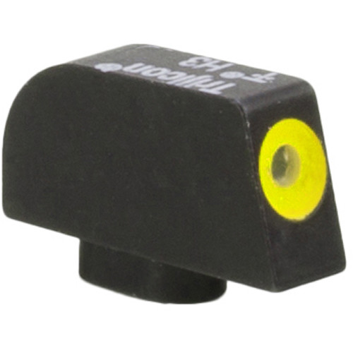 Trijicon HD XR Front Sight for Glock 10mm/.45ACP Pistols (Yellow Outline Disk, Matte Black)