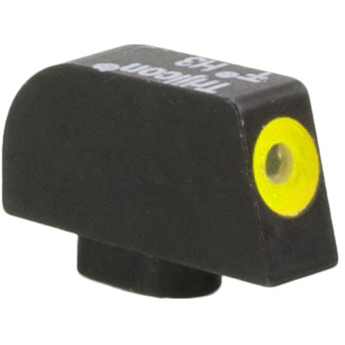 Trijicon HD XR Front Iron Sight for Glock 42/43 Pistols (Yellow Outline Disk, Matte Black)