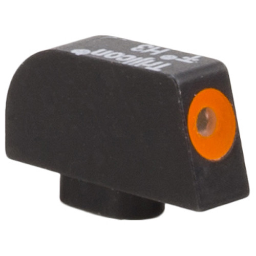 Trijicon HD XR Front Iron Sight for Glock 42/43 Pistols (Orange Outline Disk, Matte Black)
