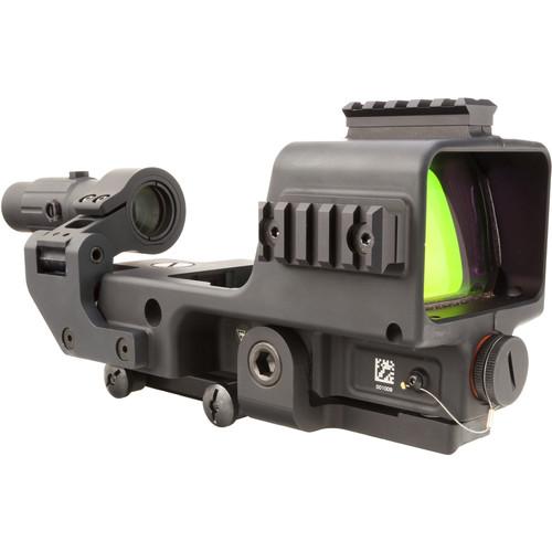 Trijicon MGRS Machine Gun Reflex Sight & 3x Magnifier Kit (3 MOA Red Dot & 35 MOA Segmented Circle Reticle)