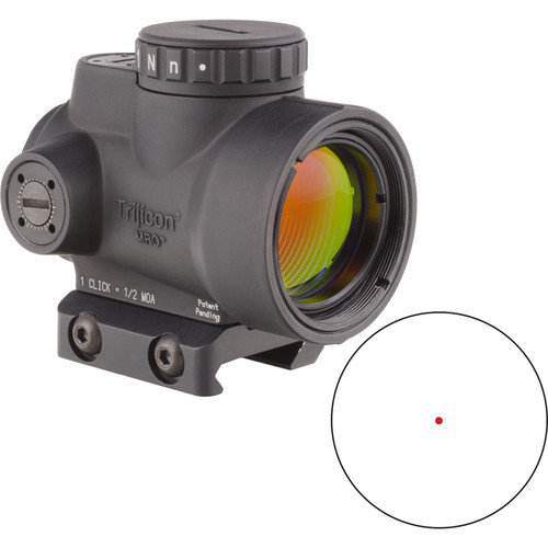 Trijicon 1x25 MRO Reflex Sight (2 MOA Red Dot Reticle, Low Picatinny Mount)