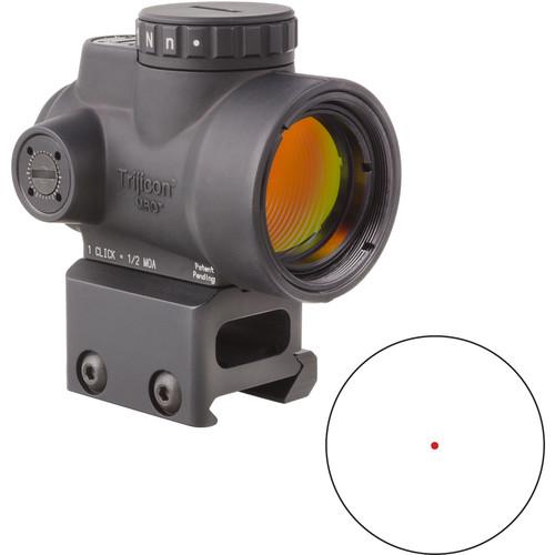 Trijicon 1x25 MRO Reflex Sight (2 MOA Red Dot Reticle, Full Co-Witness Picatinny Mount)