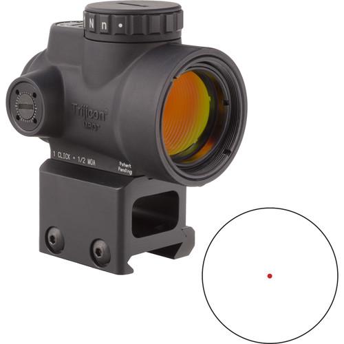 Trijicon 1x25 MRO Reflex Sight (2 MOA Red Dot Reticle, Lower 1/3 Co-Witness Picatinny Mount)