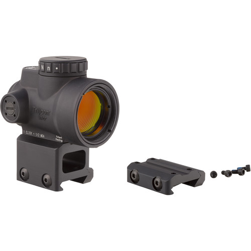 Trijicon 1x25 MRO Reflex Sight (2 MOA Red Dot Reticle, Low & Lower 1/3 Co-Witness Picatinny Mount)