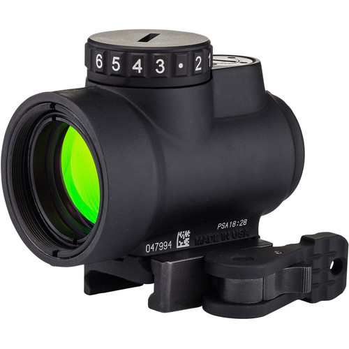 Trijicon 1x25 MRO Reflex Sight (2 MOA Green Dot Reticle, Low Picatinny Levered QR Mount)