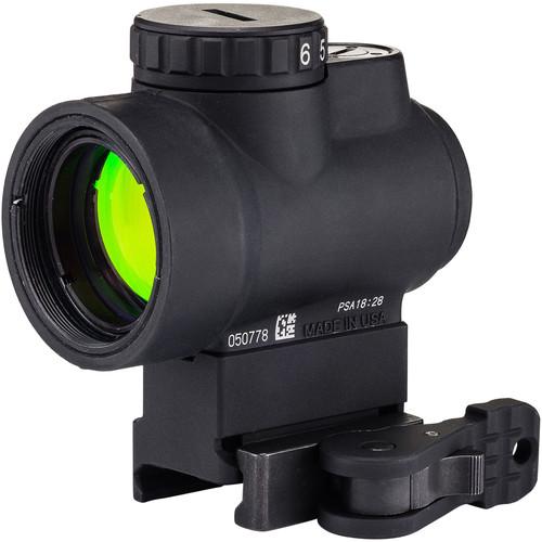 Trijicon 1x25 MRO Reflex Sight (2 MOA Green Dot Reticle, Full Co-Witness Levered QR Picatinny Mount)