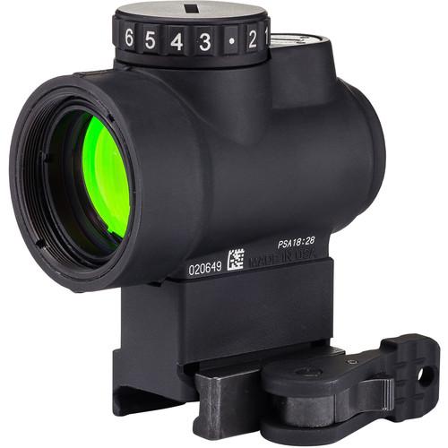 Trijicon 1x25 MRO Reflex Sight (2 MOA Green Dot Reticle, Lower 1/3 Co-Witness Levered QR Picatinny Mount)