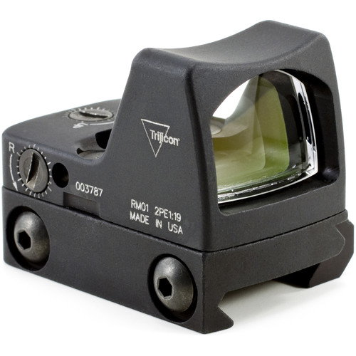 Trijicon RM01 RMR Type 2 LED Reflex Sight with RM33 Mount (3.25 MOA Red Dot, Matte Black)