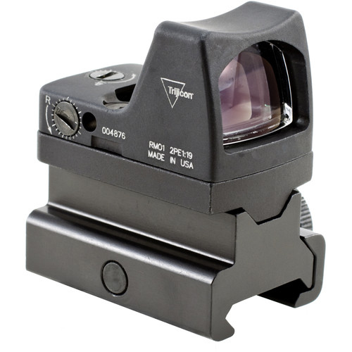 Trijicon RM01 RMR Type 2 LED Reflex Sight with RM34 Mount (3.25 MOA Red Dot, Matte Black)