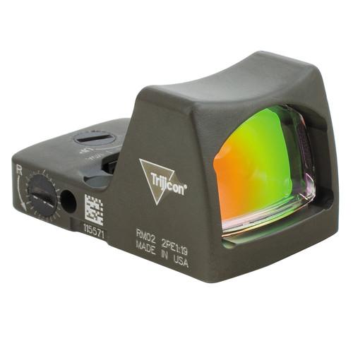 Trijicon RM02 RMR LED Reflex Sight (6.5 MOA Red Dot, Cerakote OD Green)