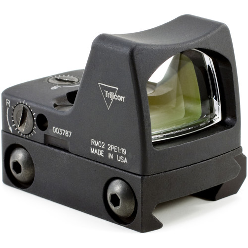 Trijicon RM02 RMR Type 2 LED Reflex Sight with RM33 Mount (6.5 MOA Red Dot Reticle, Matte Black)