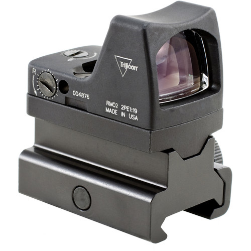 Trijicon RM02 RMR Type 2 LED Reflex Sight with RM34 Mount (6.5 MOA Red Dot Reticle, Matte Black)