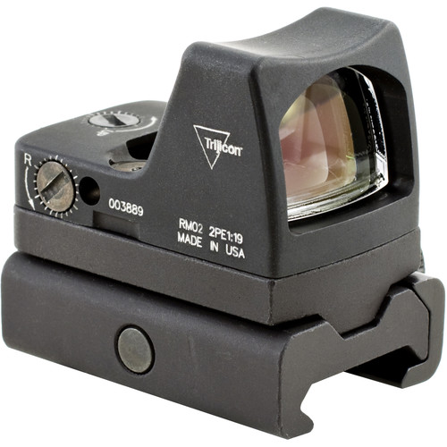Trijicon RM02 RMR Type 2 LED Reflex Sight with RM34W Mount (6.5 MOA Red Dot Reticle, Matte Black)