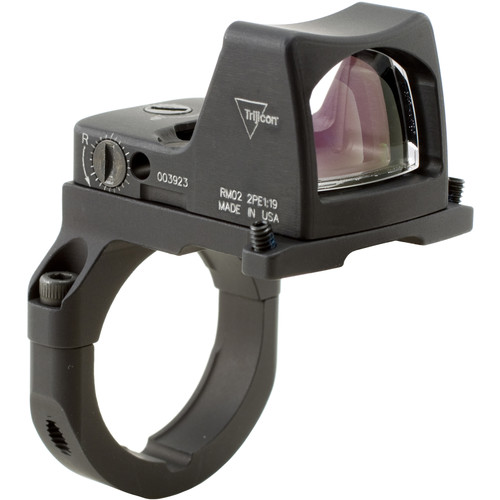 Trijicon RM02 RMR Type 2 LED Reflex Sight with RM38 Mount (6.5 MOA Red Dot Reticle, Matte Black)