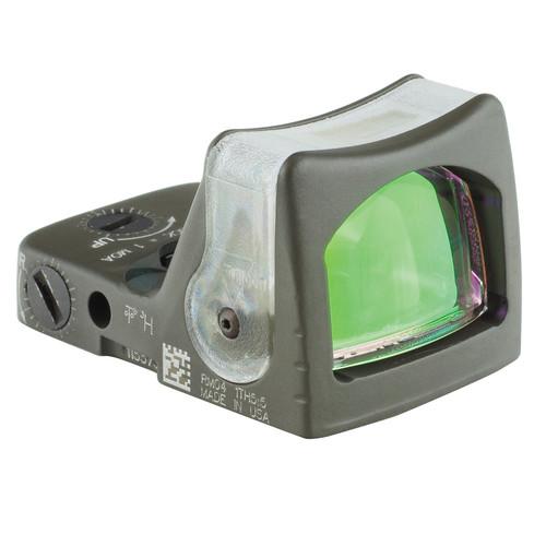 Trijicon RM04 RMR Dual-Illuminated Reflex Sight (7 MOA Amber Dot, Serakote OD Green)