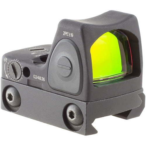 Trijicon RM06 RMR Type 2 Adjustable LED Reflex Sight with RM33 Mount (3.25 MOA Red Dot, Matte Black)