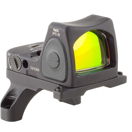 Trijicon RM06 RMR Type 2 Adjustable LED Reflex Sight with RM35 Mount (3.25 MOA Red Dot, Matte Black)