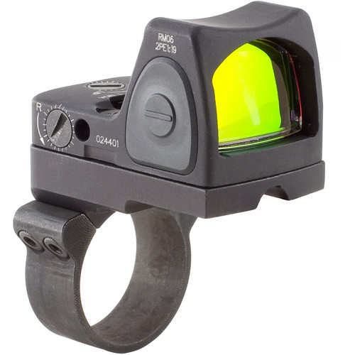 Trijicon RM06 RMR Type 2 Adjustable LED Reflex Sight with RM36 Mount (3.25 MOA Red Dot, Matte Black)