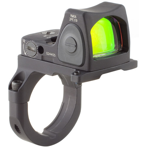 Trijicon RM06 RMR Type 2 Adjustable LED Reflex Sight with RM38 Mount (3.25 MOA Red Dot, Matte Black)