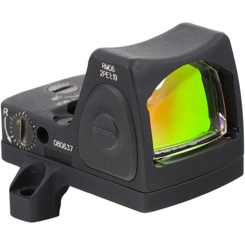 Trijicon RM06 RMR Type 2 Adjustable LED Reflex Sight with RM66 Mount (3.25 MOA Red Dot, Matte Black)