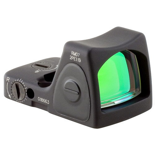 Trijicon RM07 RMR Type 2 Adjustable LED Reflex Sight (6.5 MOA Red Dot, Matte Black)