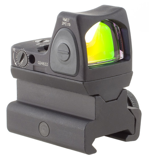 Trijicon RM07 RMR Type 2 Adjustable LED Reflex Sight with RM34 Mount (6.5 MOA Red Dot, Matte Black)