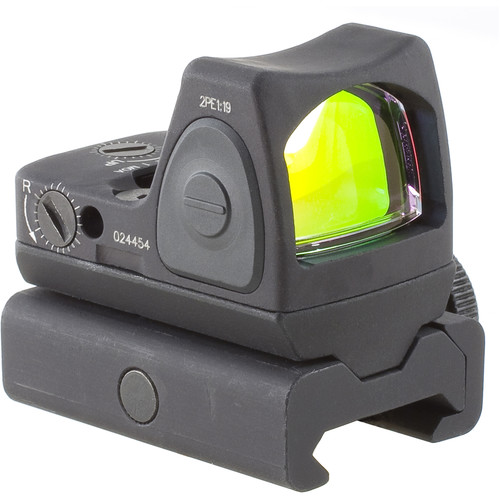 Trijicon RM07 RMR Type 2 Adjustable LED Reflex Sight with RM34W Mount (6.5 MOA Red Dot, Matte Black)