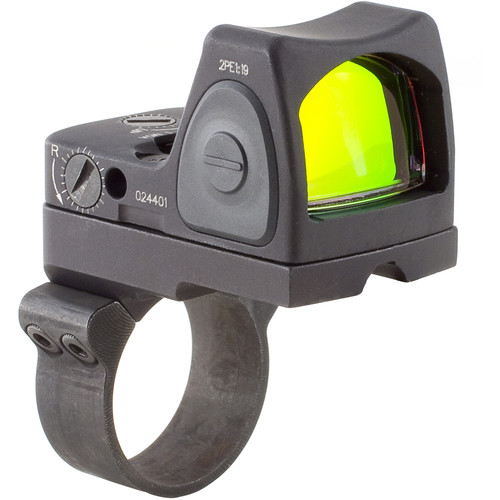 Trijicon RM07 RMR Type 2 Adjustable LED Reflex Sight with RM36 Mount (6.5 MOA Red Dot, Matte Black)