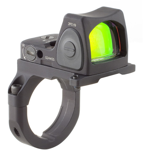 Trijicon RM07 RMR Type 2 Adjustable LED Reflex Sight with RM38 Mount (6.5 MOA Red Dot, Matte Black)